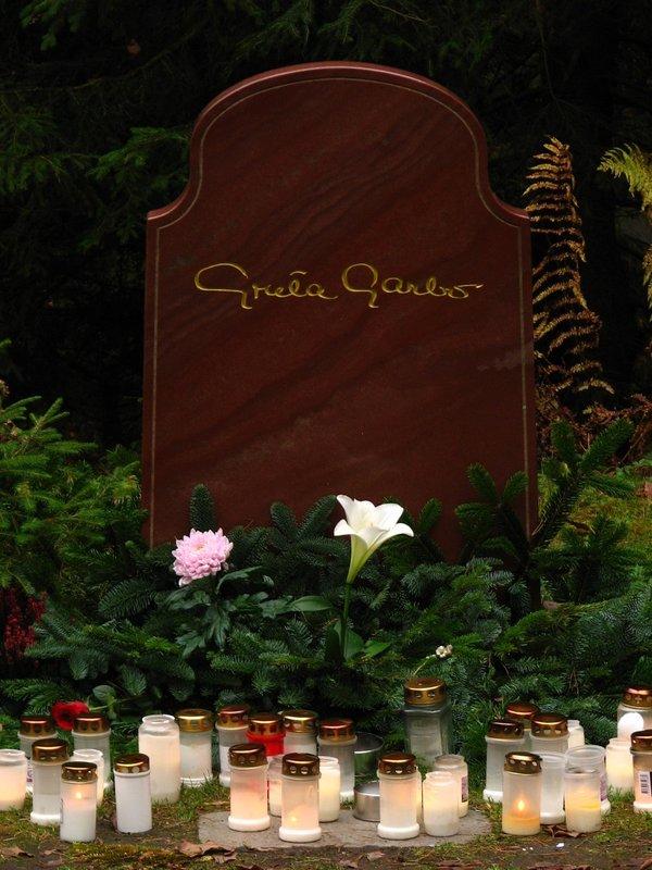 Greta Garbo's grave