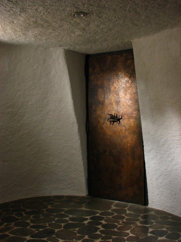 Door with conch handle