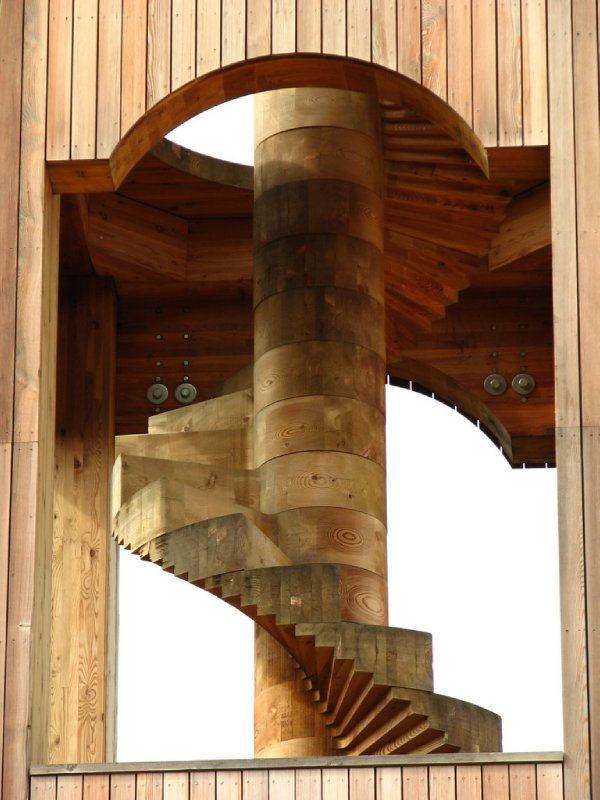 Spiral staircase up the bell tower