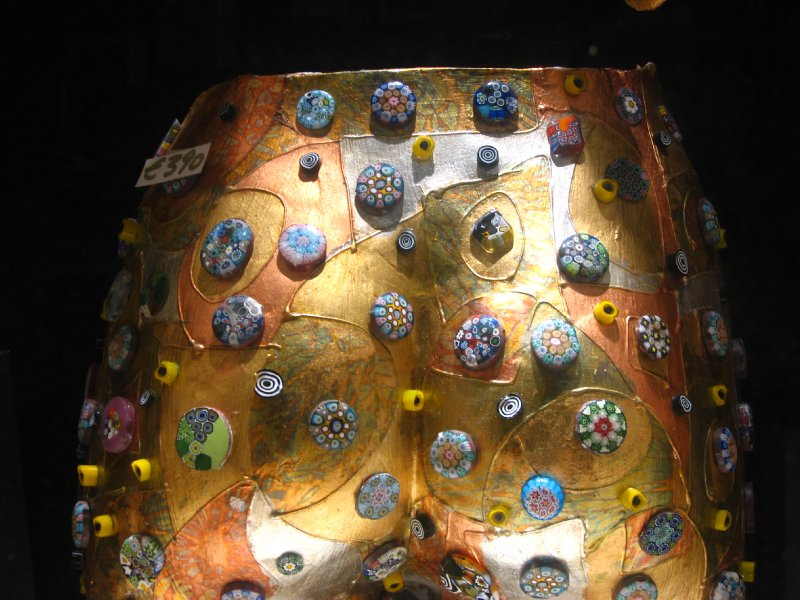 Metallic buttocks studded with Murano glass - €390, anyone?