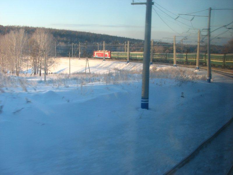 Train taking a curve