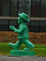 Green Ampelmannchen sculpture