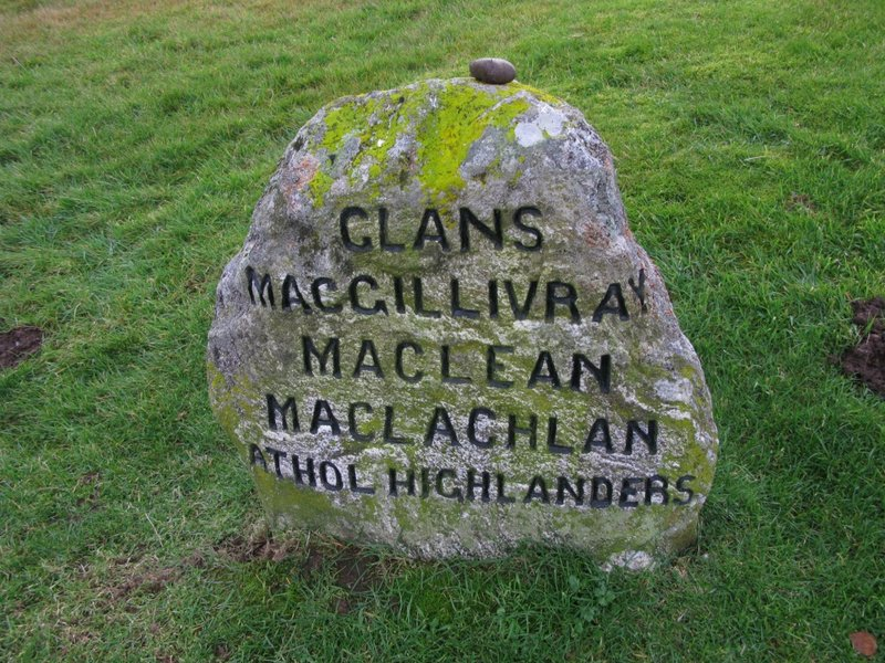 Clan MacLean gravestone at Culloden