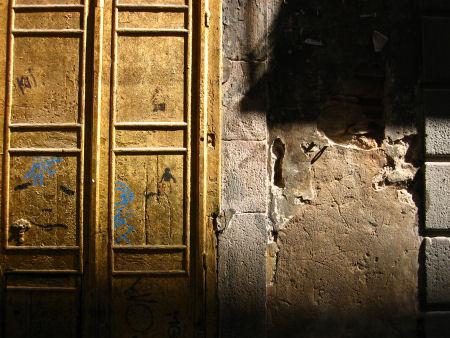gold door