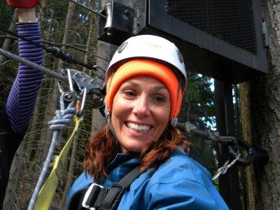 Lisa Ziplining