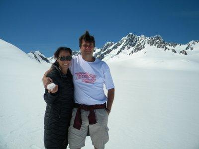 Steve and Lisa on Glacier