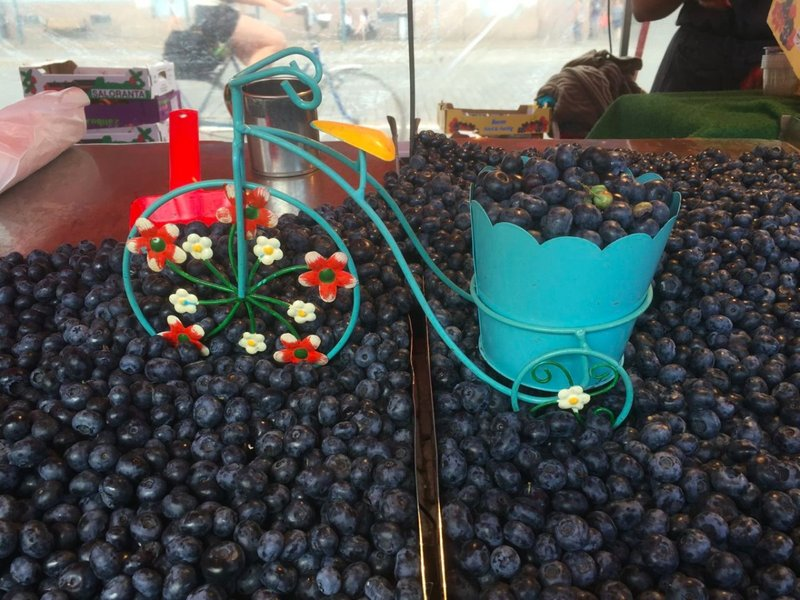 Blueberries at the market