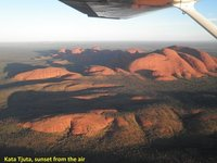 Kata Tjuta, sunset, from the air