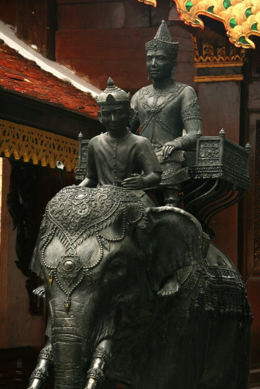 King Rama on his elephant