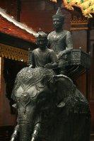 King Rama on his elephant