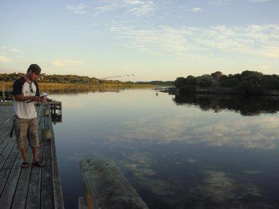 Quiet dawn fishing
