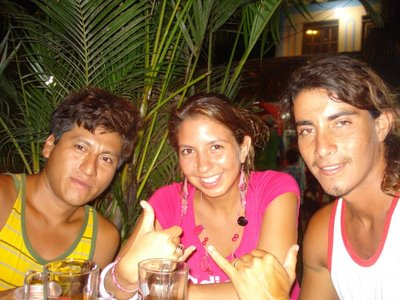 Montanita with friends