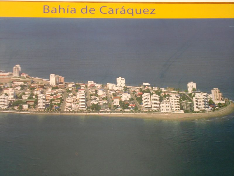 Bahia de Caraques from the air...