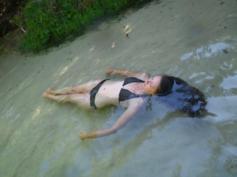 Floating down Eli Creek