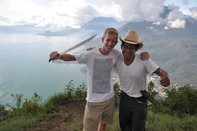 Above Lake Atitlán with a Machete