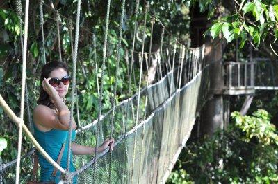 Helen on Canopy Walkway
