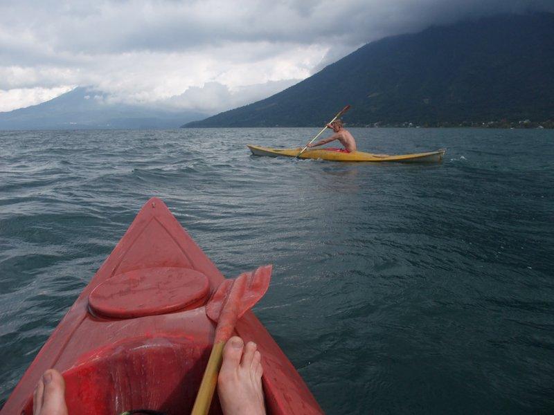 Kayaking on Lake Atitlán