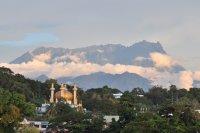Mosque and Mount Kinabalu