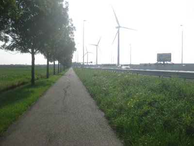 Even the motorways have cycle paths