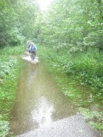 Cycling through the floods