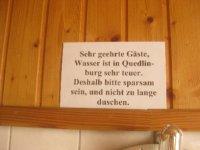 Reminder that water is precious in Quedlinburg