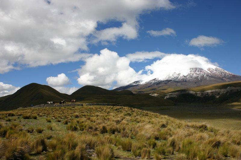 Mt Cotapaxi and Pre-Inca Fort