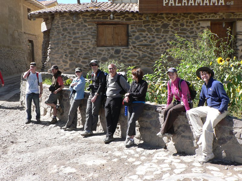 The gang in Ollyantaytambo