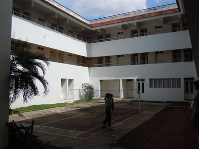 Boy's hostel courtyard