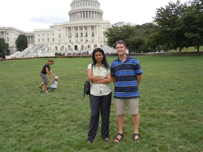 Sreeja and Steve at the Capitol