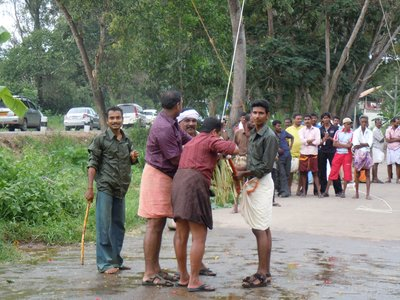 No shorts in Kerela - only dhotis