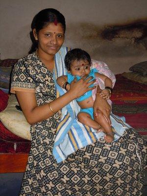 Sankar wife and baby