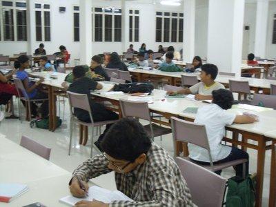 pre-dinner study hall