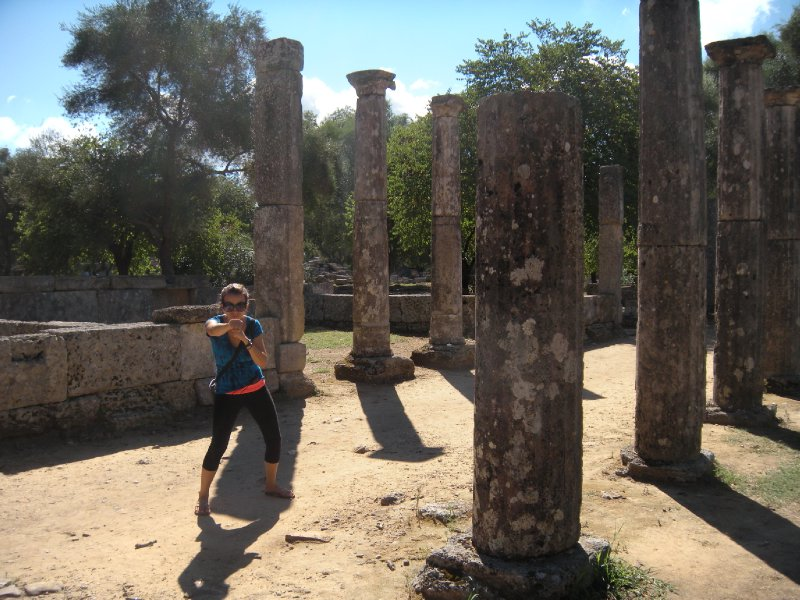 Working Out at the Ancient Olympic Gymnasium