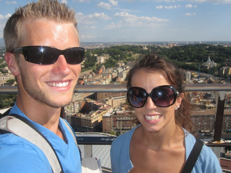 On top of St. Peter's Basilica