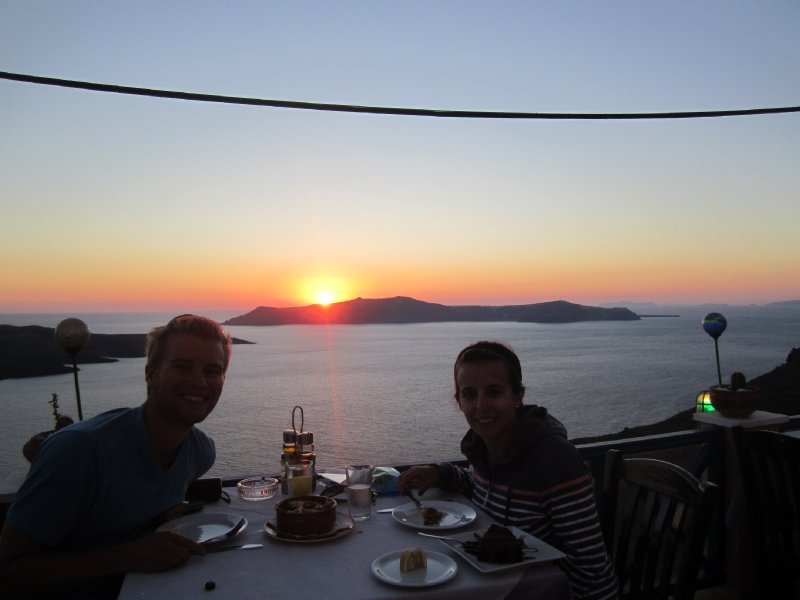 Last Sunset in Santorini!