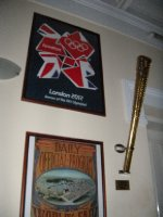 Torch from the London 2012 Olympics