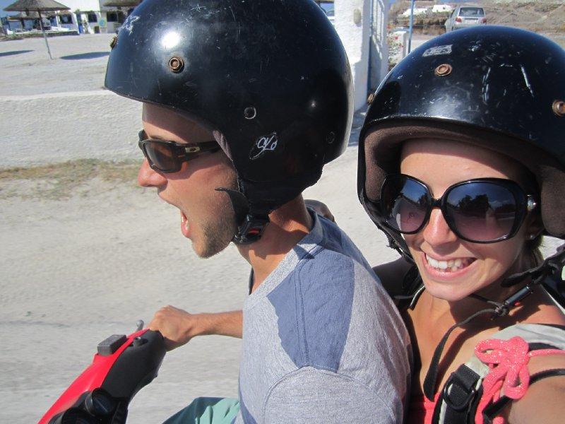 Us on the motorbike!