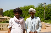 Rajasthani turbans and moustaches...  They wanted me to take their picture :-)