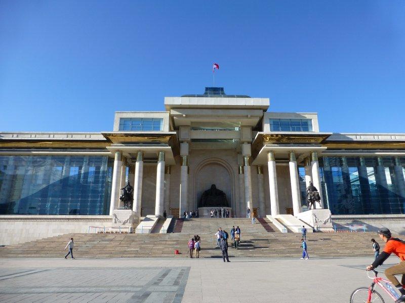 Main square in Ulaanbaatar