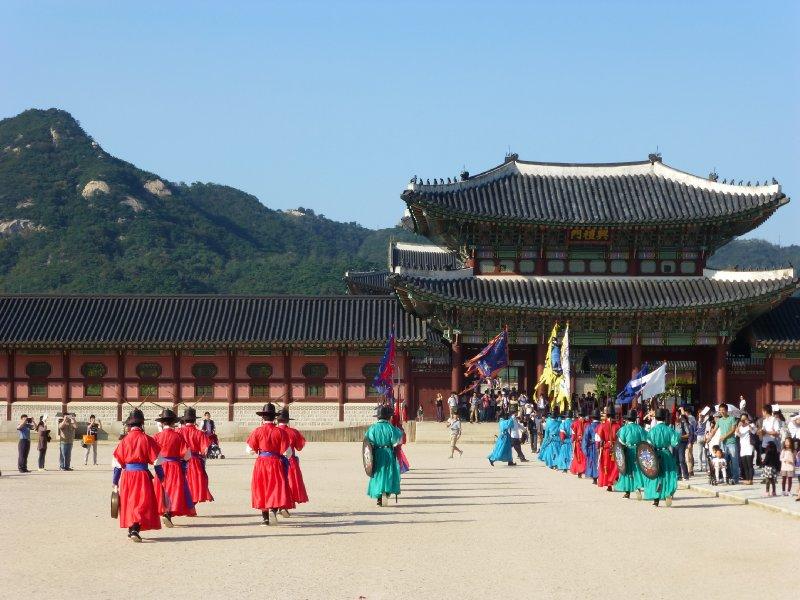 Changing of the guard at Gyeongbokung Palace