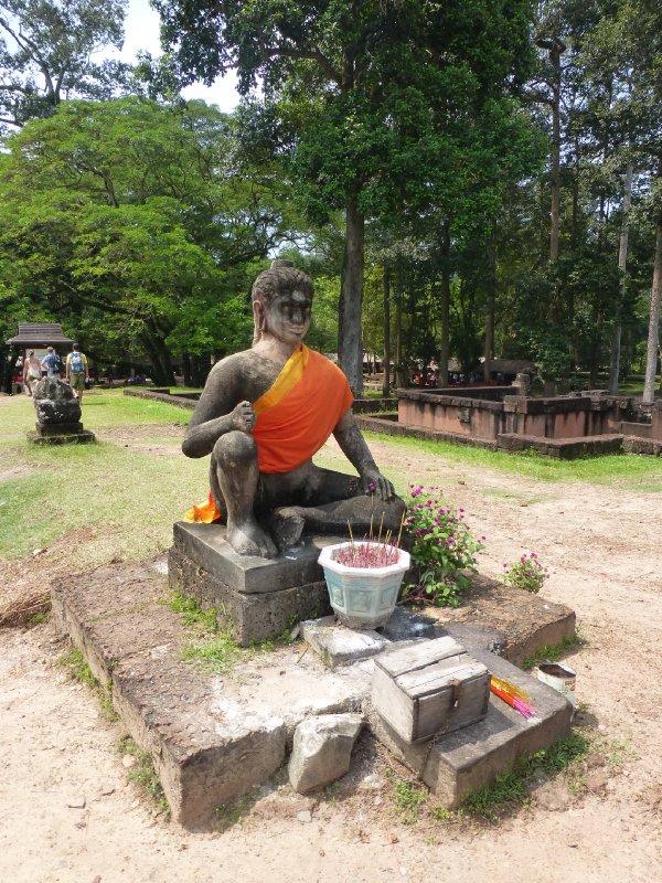 Leper King Statue at Angkor Park