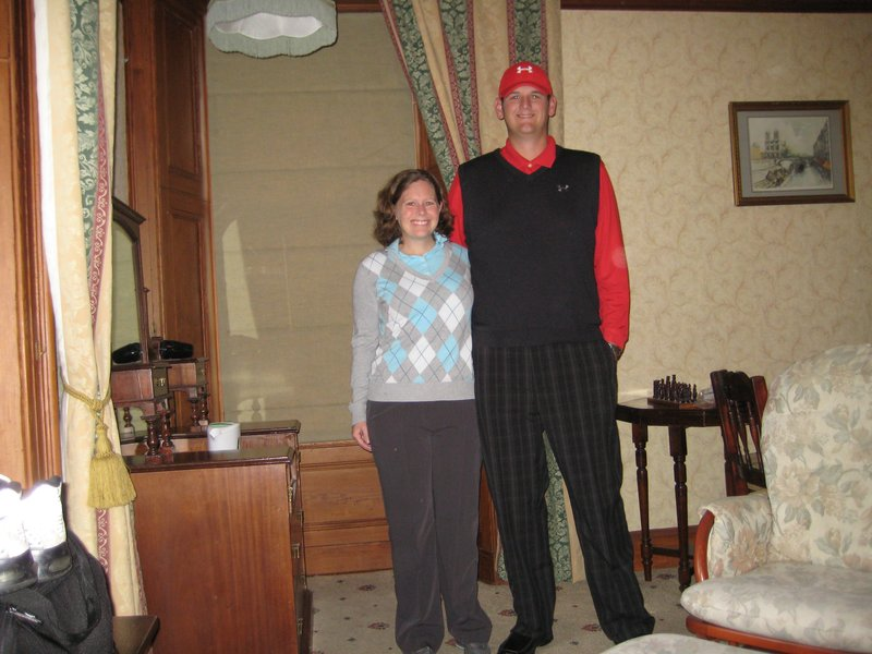 Brian & Michele ready for the first day golf