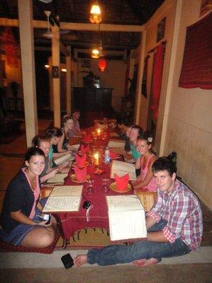The first night in Phnom Pehn