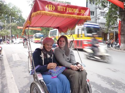 Sian and I in A Cyclo