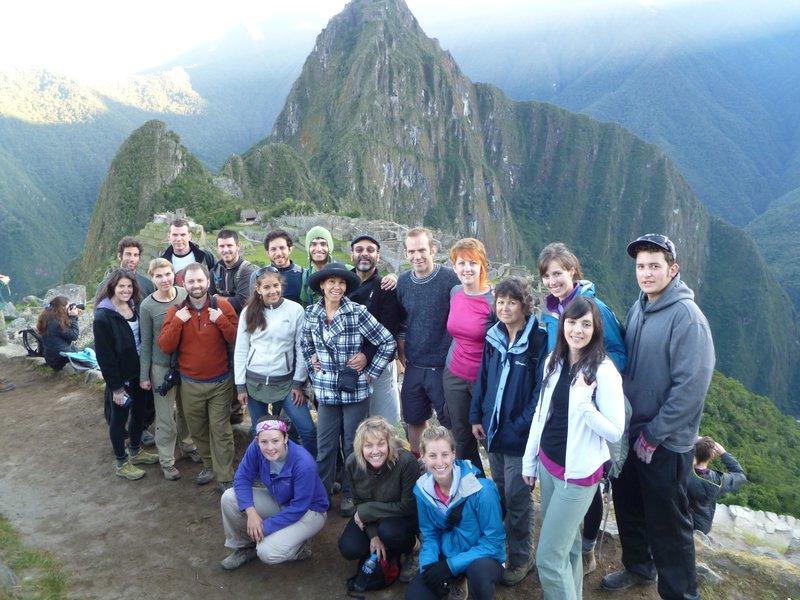 Our treking Group at machu Pichu