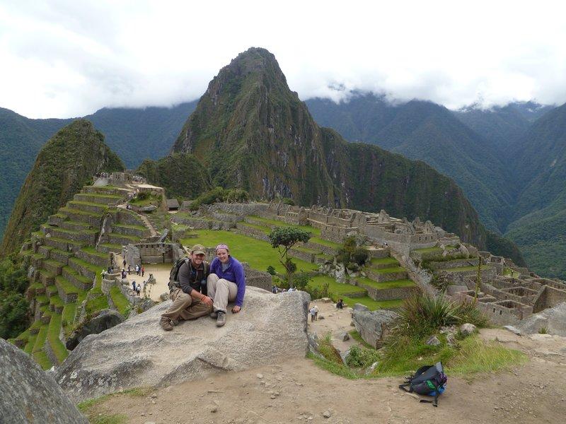 James and I above Machu Pichu