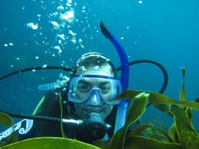 Nate in Kelp Forest