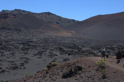 Black Lava Fields in Haleakala