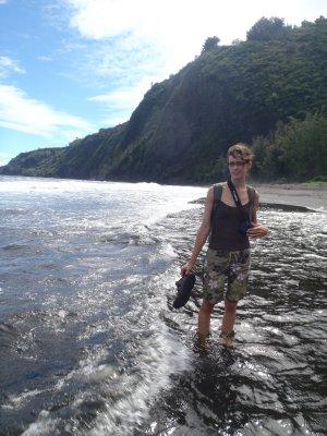 Julie Crossing Stream