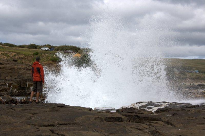 Blow Hole at Curio Bay
